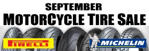 SEPTEMER MOTORCYCLE TIRE SALE